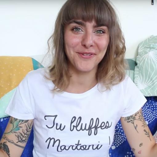 Marion Seclin tshirt t shirt tu bluffes martoni madmoizelle sister sister la cité de la peur