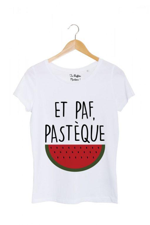 paf-pasteque-tshirt-femme-blanc-tu bluffes martoni