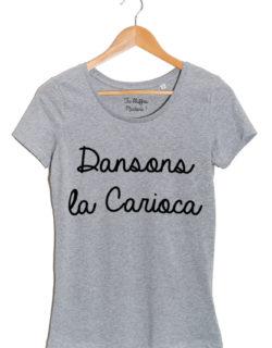 dansons la carioca tshirt femme gris