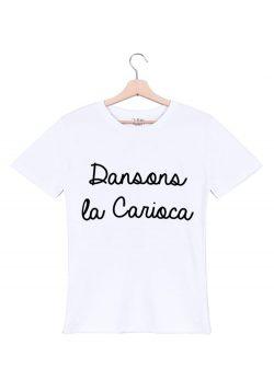 dansons la carioca tshirt homme blanc