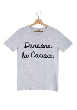 dansons la carioca tshirt homme gris