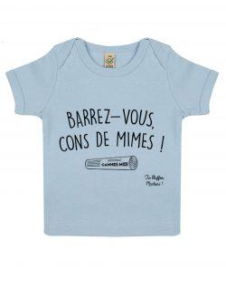 barrez vous cons de mimes bleu t-shirt bébé la cité de la peur tu bluffes martoni
