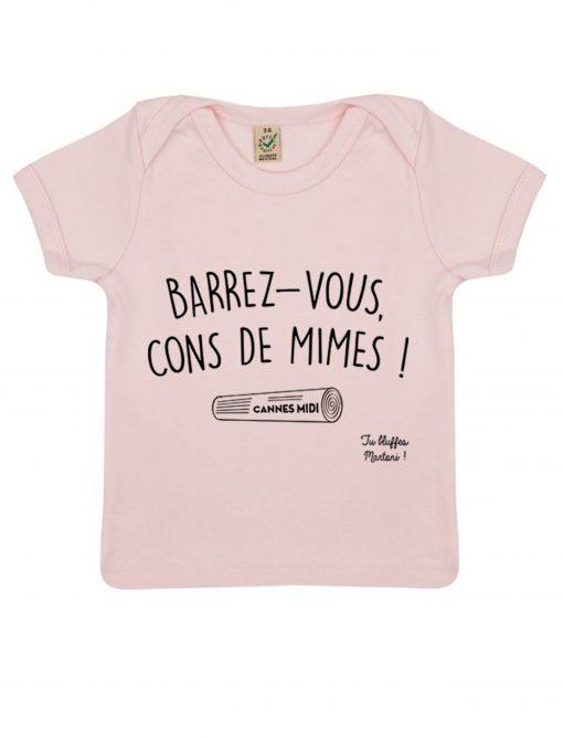 barrez vous cons de mimes rose t-shirt bébé la cité de la peur tu bluffes martoni
