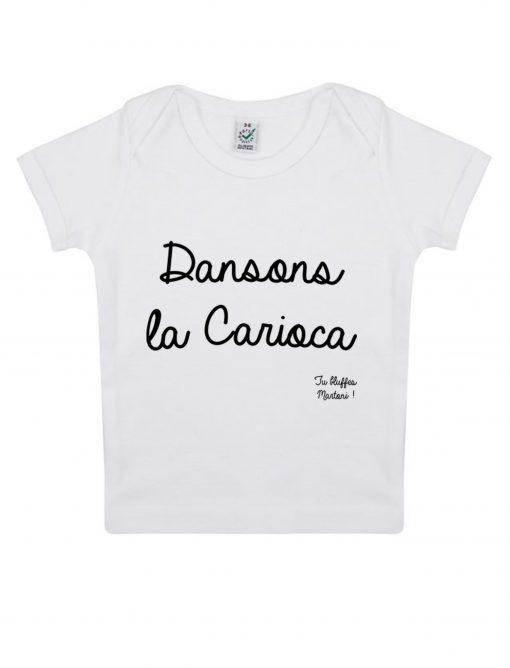 carioca t-shirt bébé la cité de la peur tu bluffes martoni