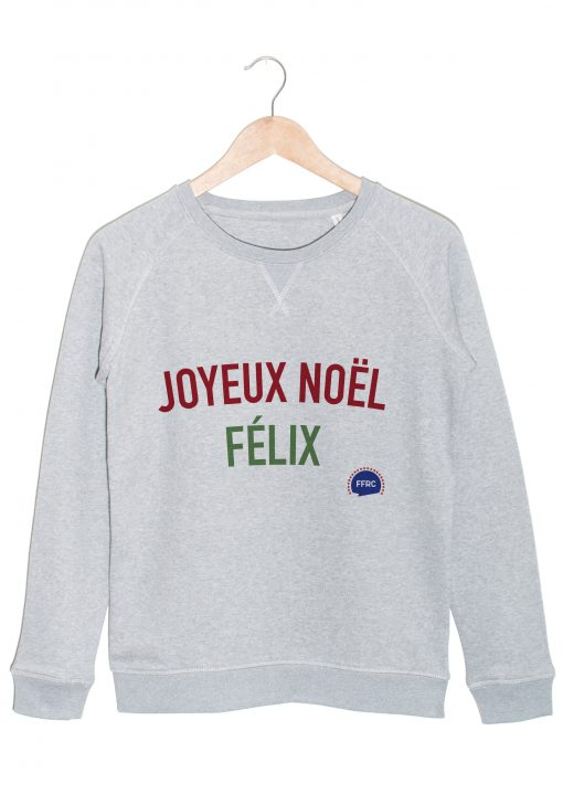 joyeux noel felix sweat gris federation francaise de la replique culte