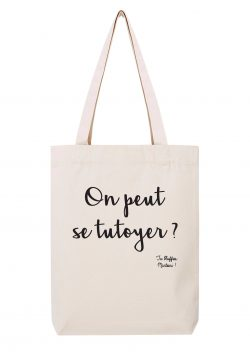 on peut se tutoyer sac coton tote bag tu bluffes martoni la cite de la peur