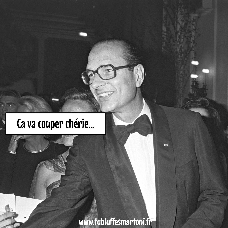 """Cannes Midi : Jacques Chirac """"Ça va couper chérie..."""""""